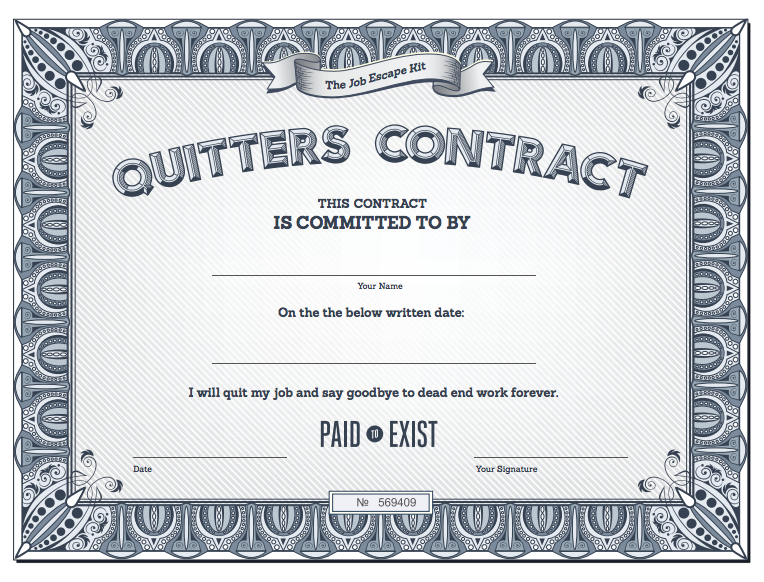 Quitting Contract
